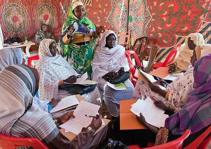 Workshop on UN resolution 1325 in Malha, North Darfur by UNAMID under CC license on Flickr