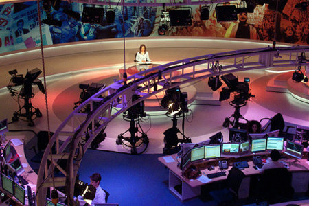 al jazeera english newsroom by Paul Kelle with cc license from Flickr