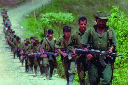 Revolutionary_Armed_Forces_of_Colombia_(FARC)_insurgents by Institute for National Strategic Studies via Wikimedia Commons