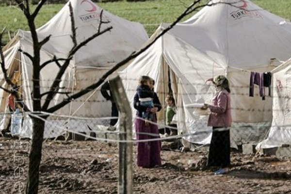 Syrian refugees who fled the violence in Idlib region by FreedomHouse2