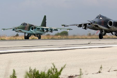 Russian Sukhoi Su-25 at Latakia (2) by Mil.ru CC BY 4.0 via Commons - httpscommons.wikimedia.orgwikiFile