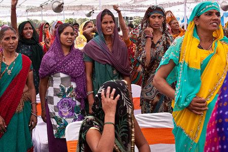 Local women attend gram sabha, local village meeting, Barrod village of Rajasthan's Alwar, India. By UN Women/Gaganjit Singh Chandok
